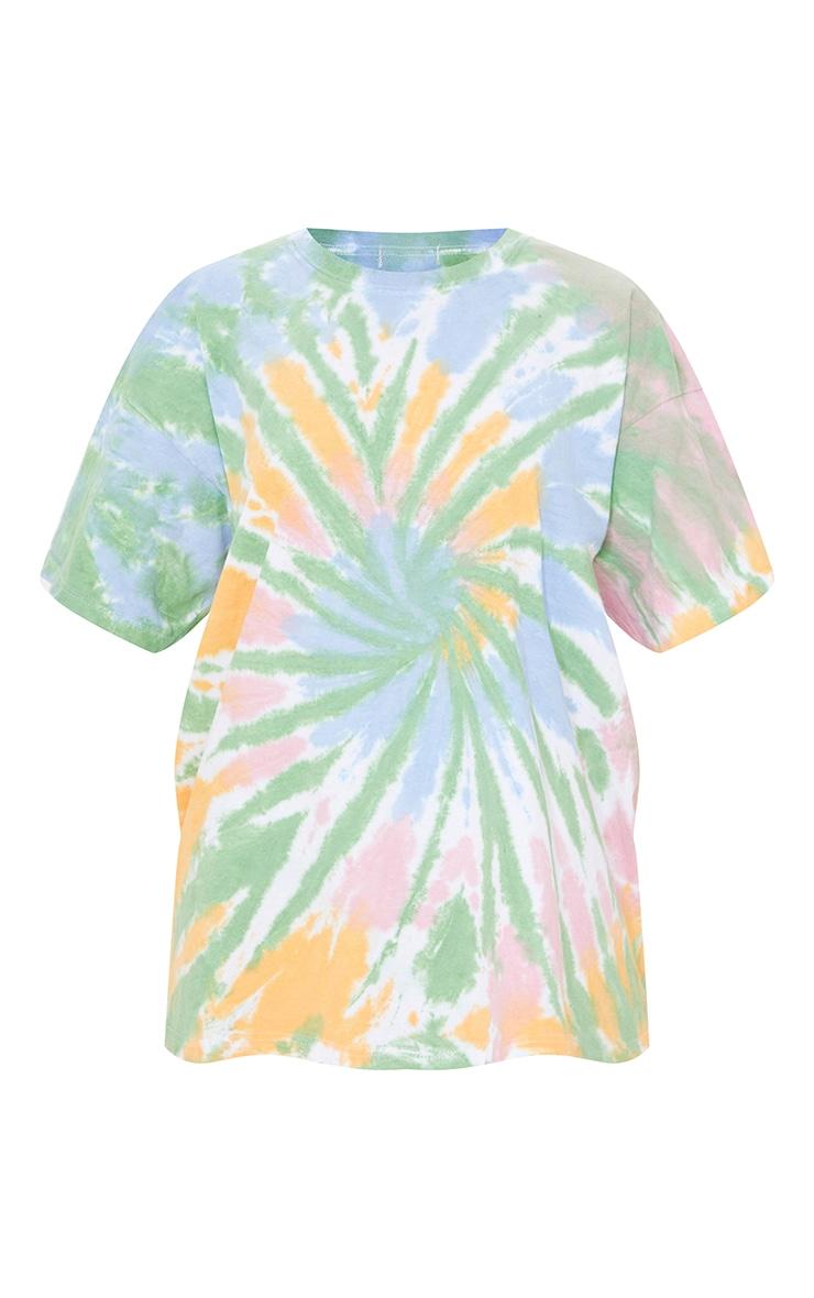 Multi Tie Dye Print Oversized T Shirt 5