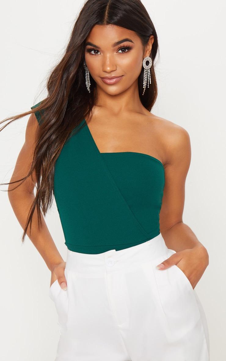 Emerald One Shoulder Bodysuit 1
