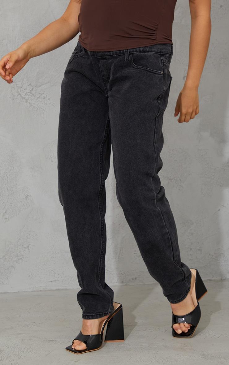 Maternity Black Mom Jeans 2