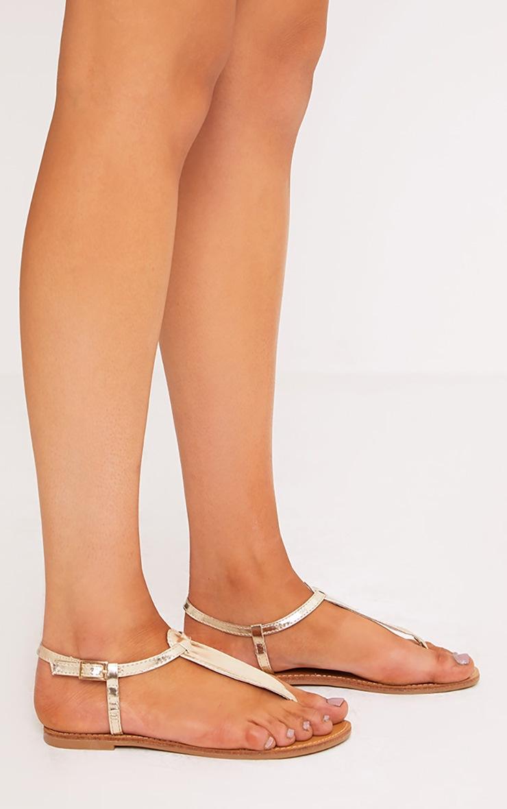 Zerina Gold Metallic Sandals 3