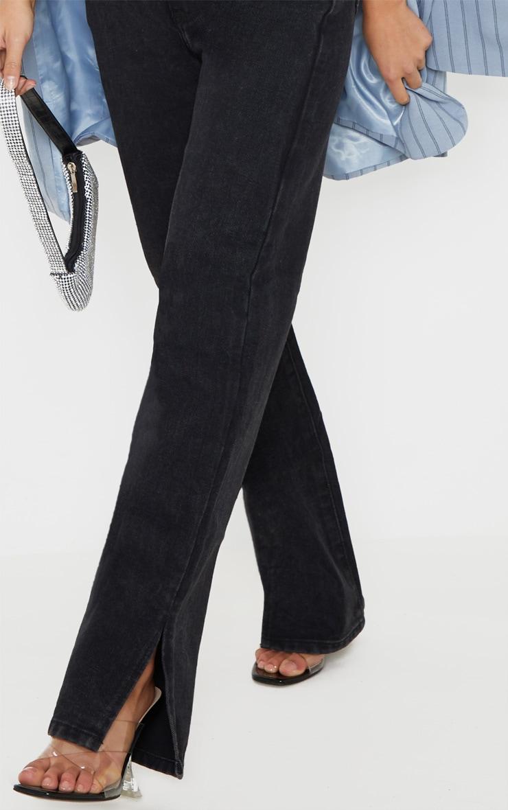 Petite Black Split Hem Jeans 5