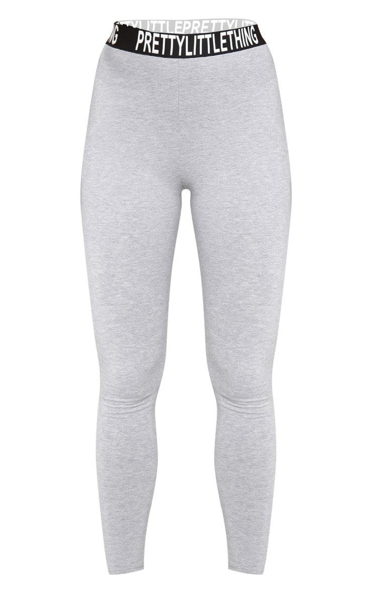 PRETTYLITTLETHING - Legging taille haute gris  3