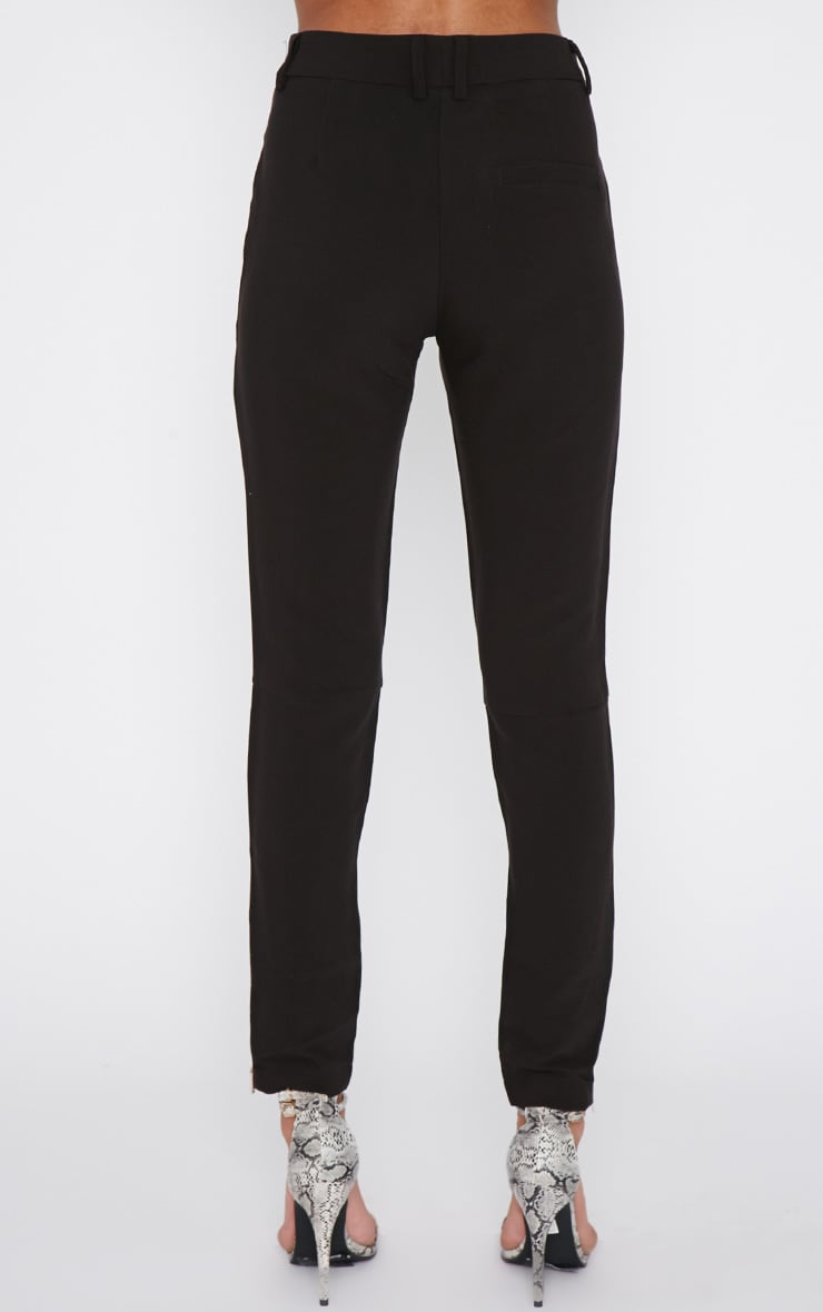 Larisa Black Zip Cigarette Trouser  4