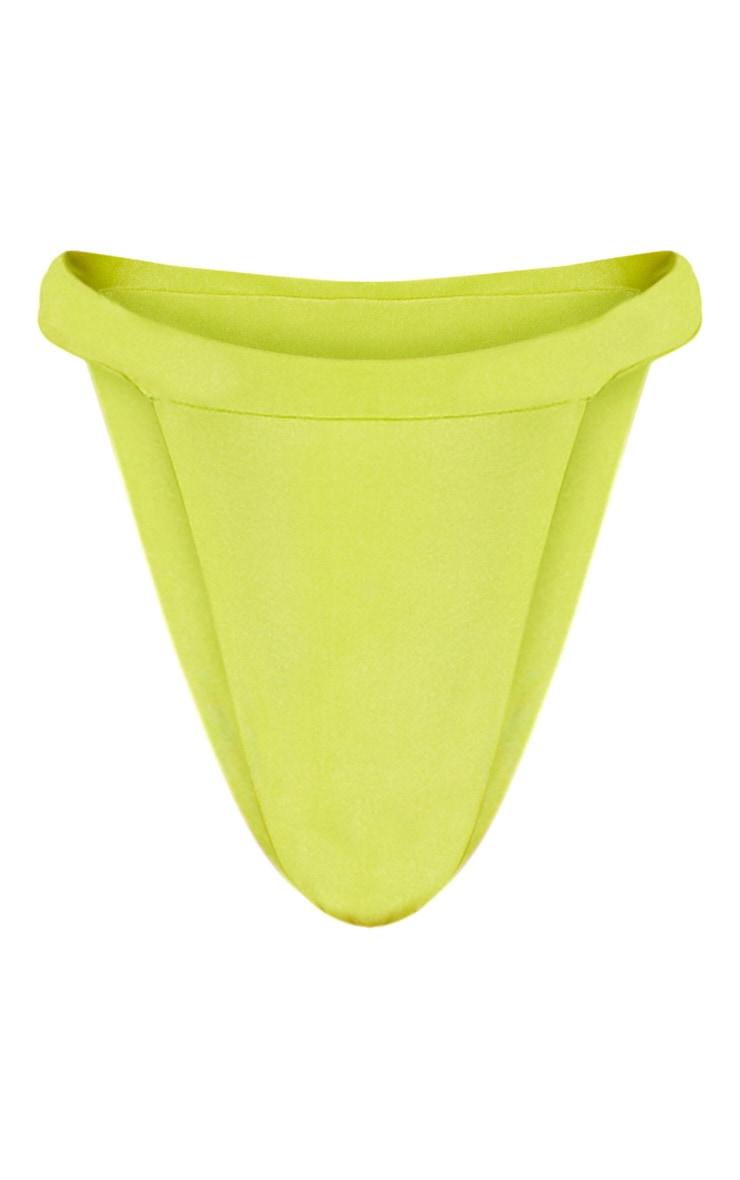 Lime Elasticated High Leg Bikini Bottom 3