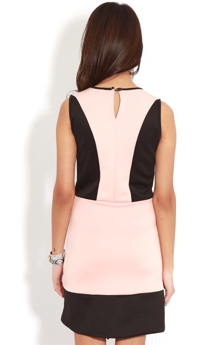 Reanne Pink Panelled Wrapover Dress 2