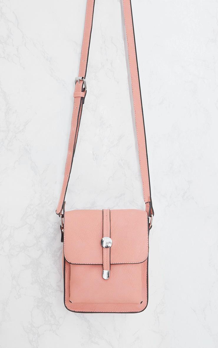 Light Pink Cross Body Strap Bag 3