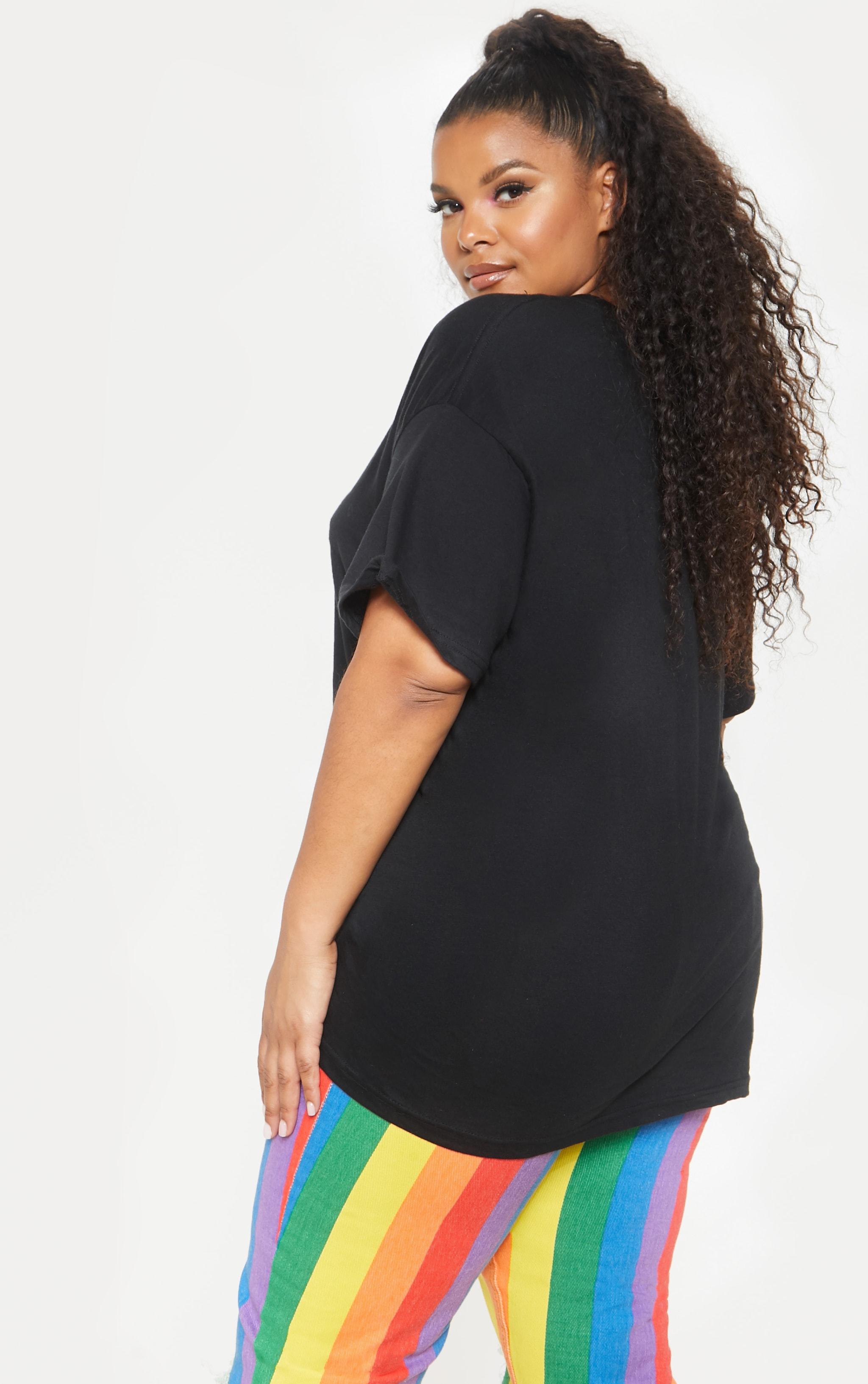 PLT Plus - T-shirt noir à slogan Equal 2