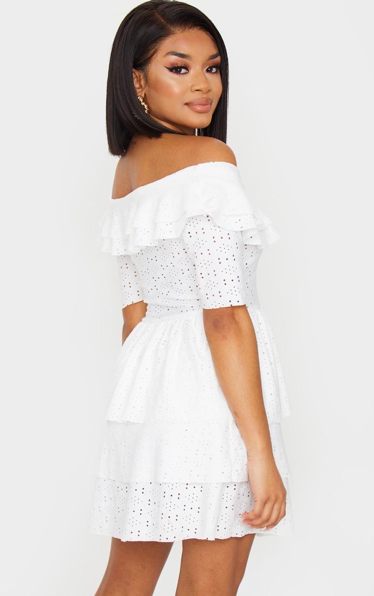 Petite Cream Frill Mini Dress 2