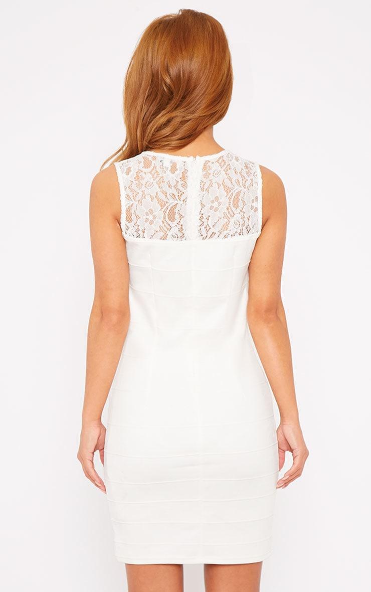 Primrose Cream Lace Top Bandage Dress 2