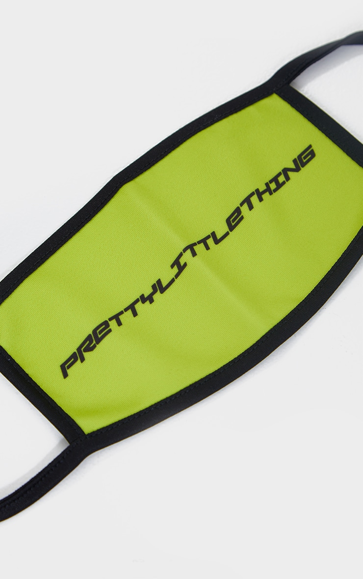 PRETTYLITTLETHING Lime Contrast Fashion Mask 2