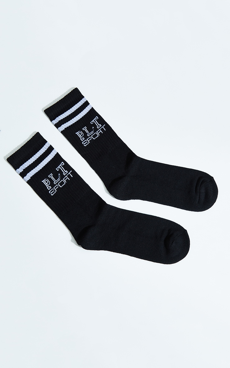 PRETTYLITTLETHING Black Sport Socks 2