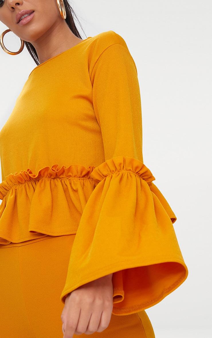 Mustard Frill Sleeve Top  5