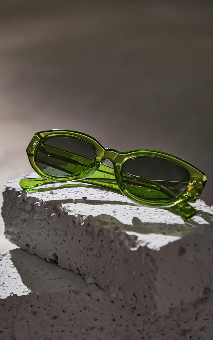 A.Kjaerbede Light Olive Transparant Sunglasses 3