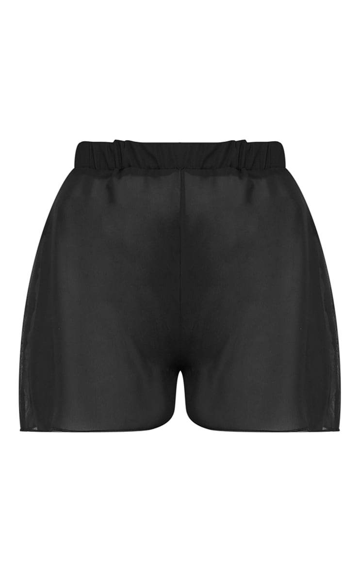 Black Floated Beach Shorts 6