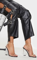 Black Clear Strap Heels 1