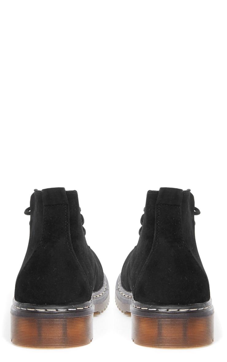 Bianca Black Suedette Desert Boot  2