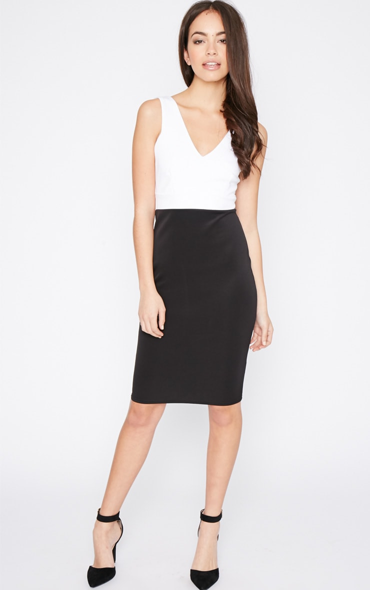 Adella Black Bodycon Panel Dress 1
