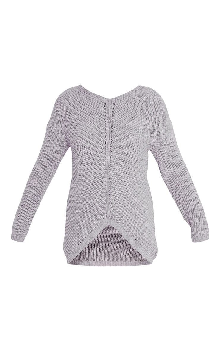 Hollilia Grey V Hem Jumper 3