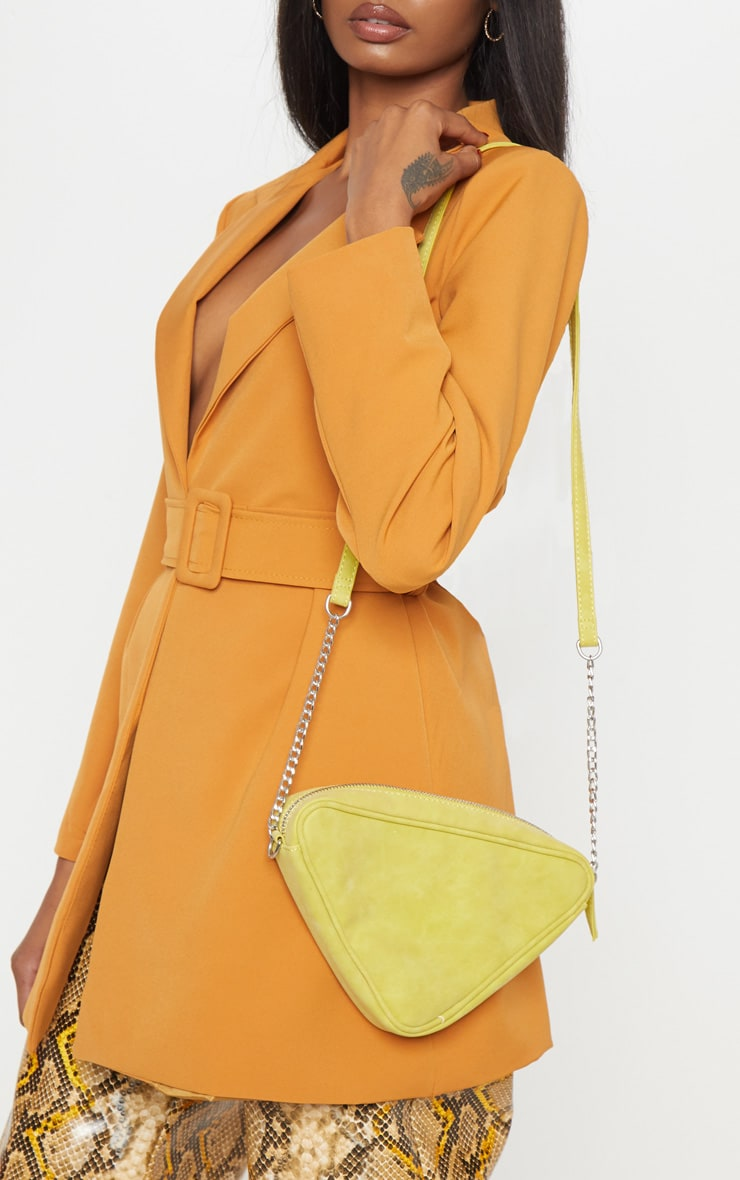 Lime Triangle Cross Body 1