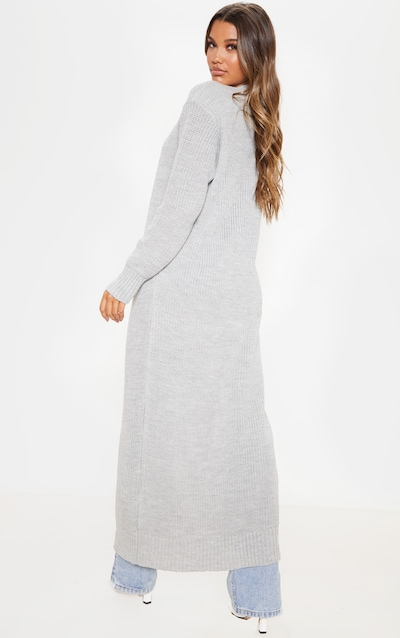 Light Grey Maxi Knitted Cardigan