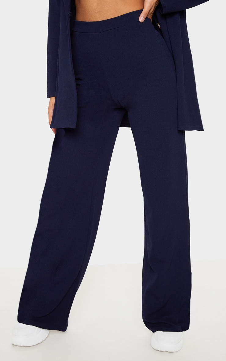 Navy Wide Leg Trouser 2
