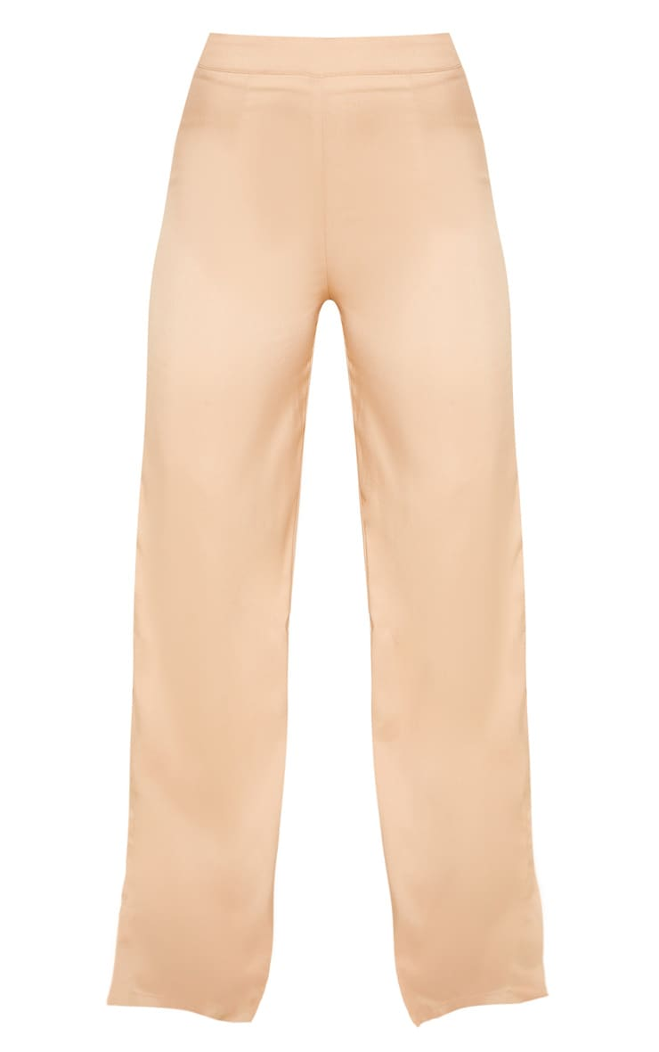 Beige Wide Leg Suit Trouser  3