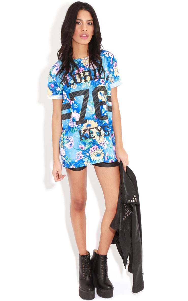 Layla Blue Floral Florida 76 Sports Tee 3