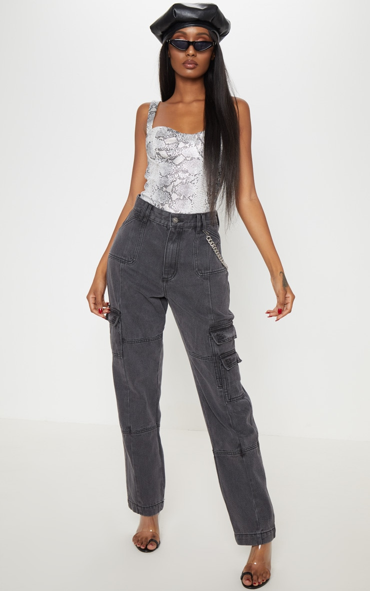 Black Combat Jeans 1