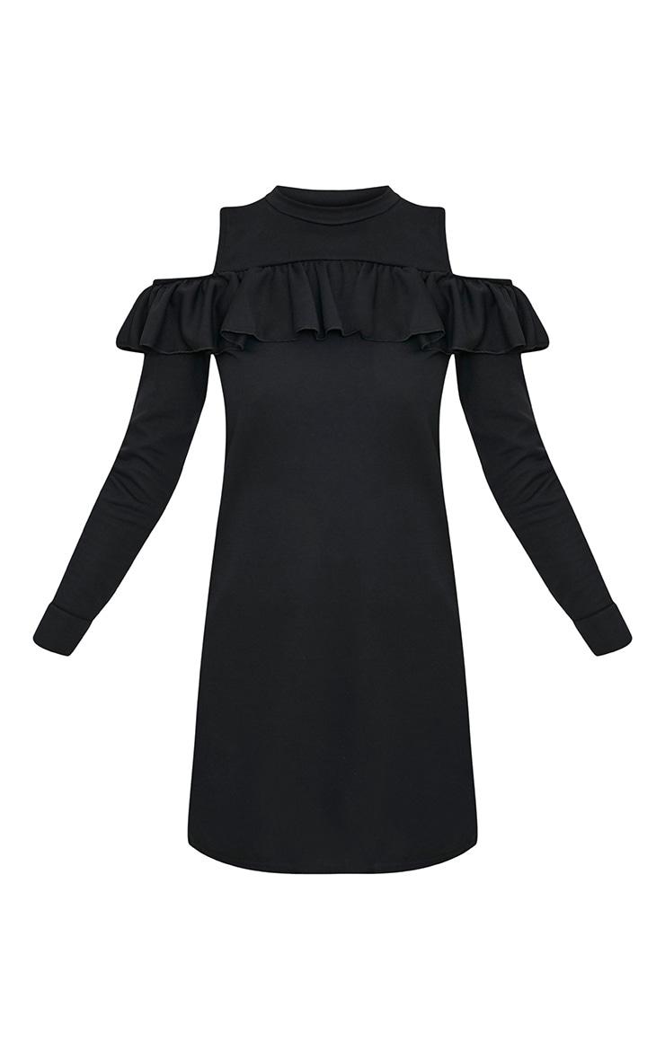 Bridy Black Cold Shoulder Sweater Dress 3