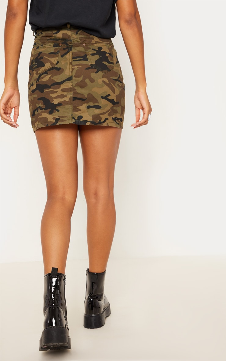 Camo Denim Skirt  4
