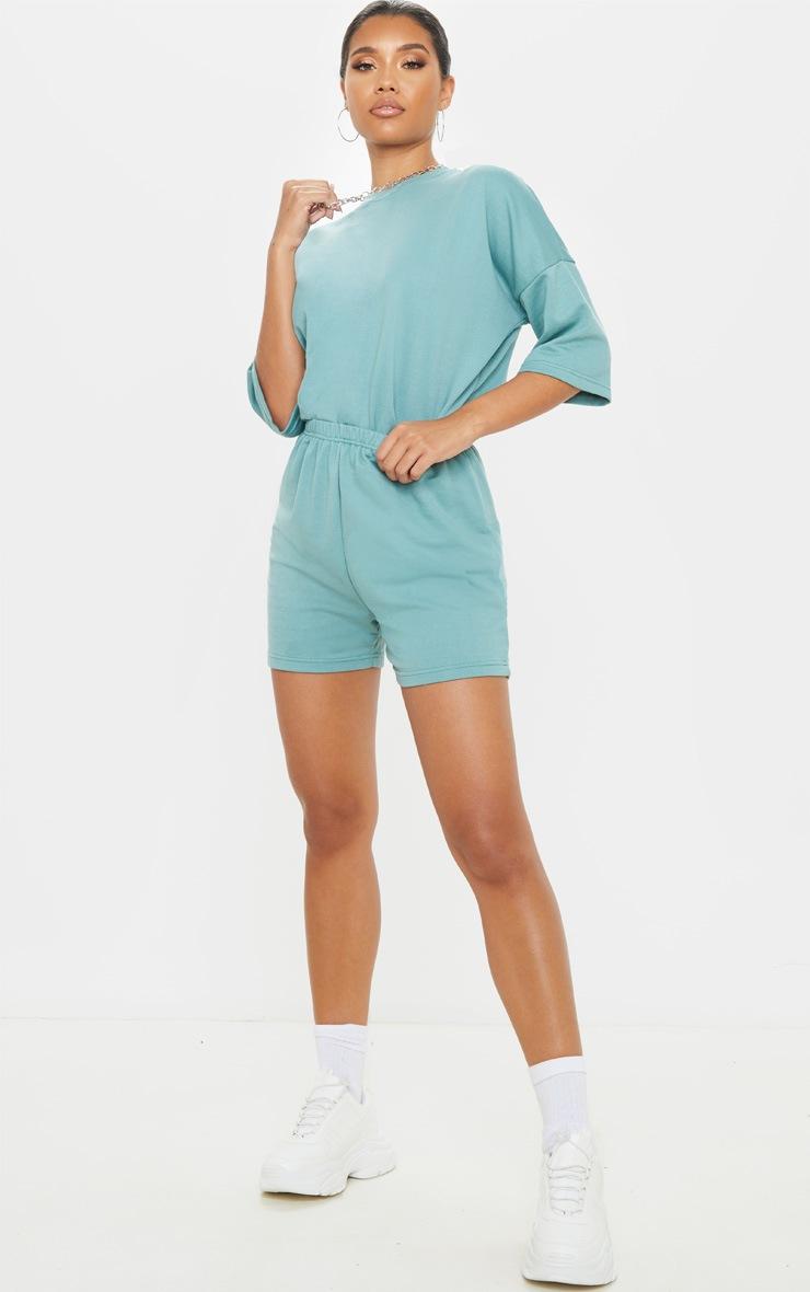 Dusty Turquoise Jogger Sweat Short 5