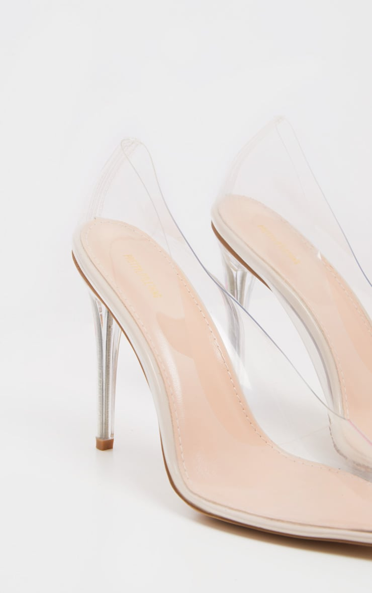Clear Heeled Court Shoe 4