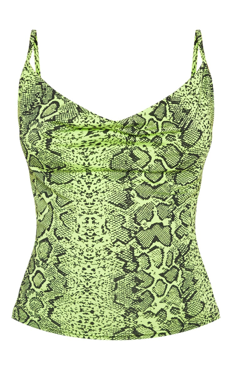 Neon Snake Printed Cowl Neck Cami Top 3