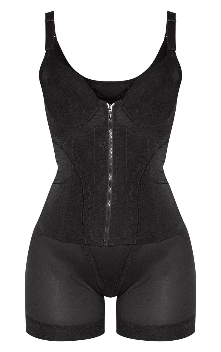 Black Zip Front Shapewear Set 3