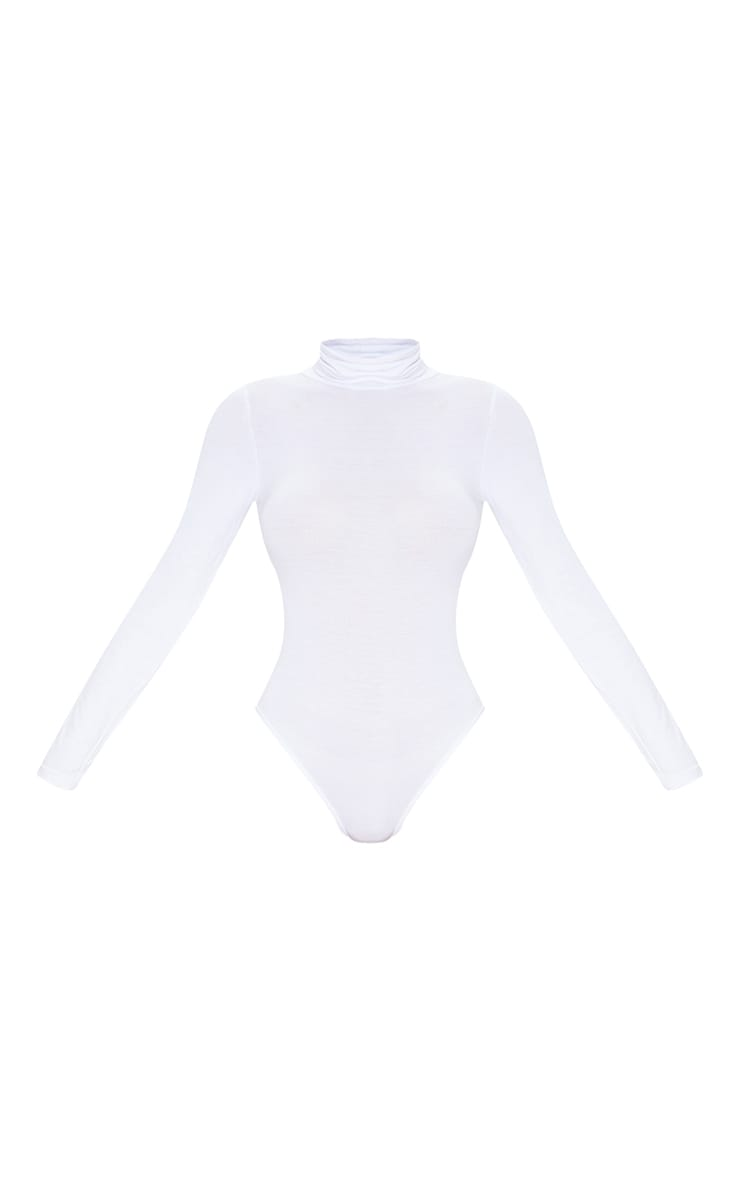 Basic Black & White 2 Pack Roll Neck Long Sleeved Bodysuit 7