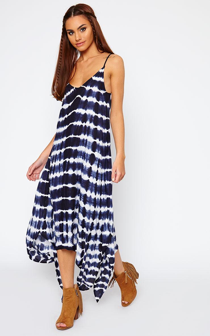 Zadie Blue Tie Dye Maxi Dress 1