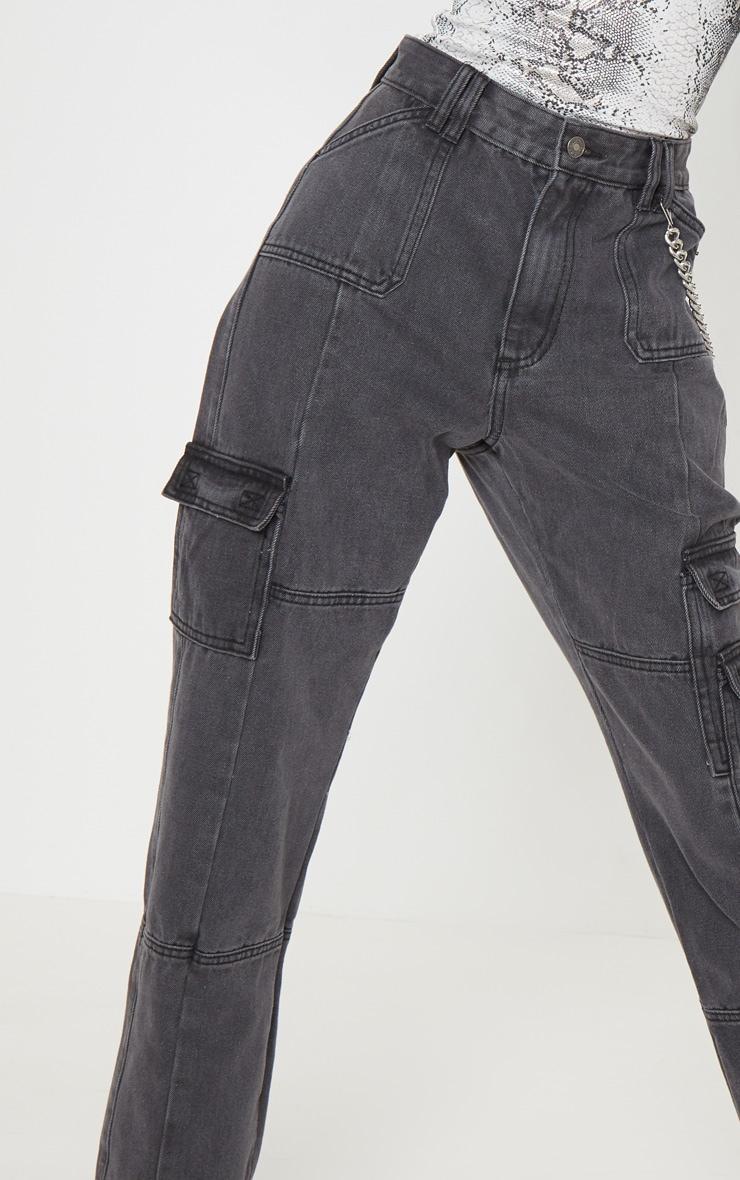 Black Combat Jeans  5