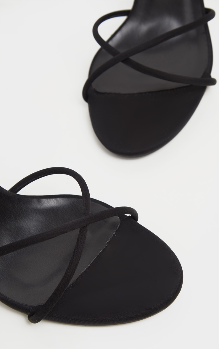Black Cross Strap Lycra Sandal 5