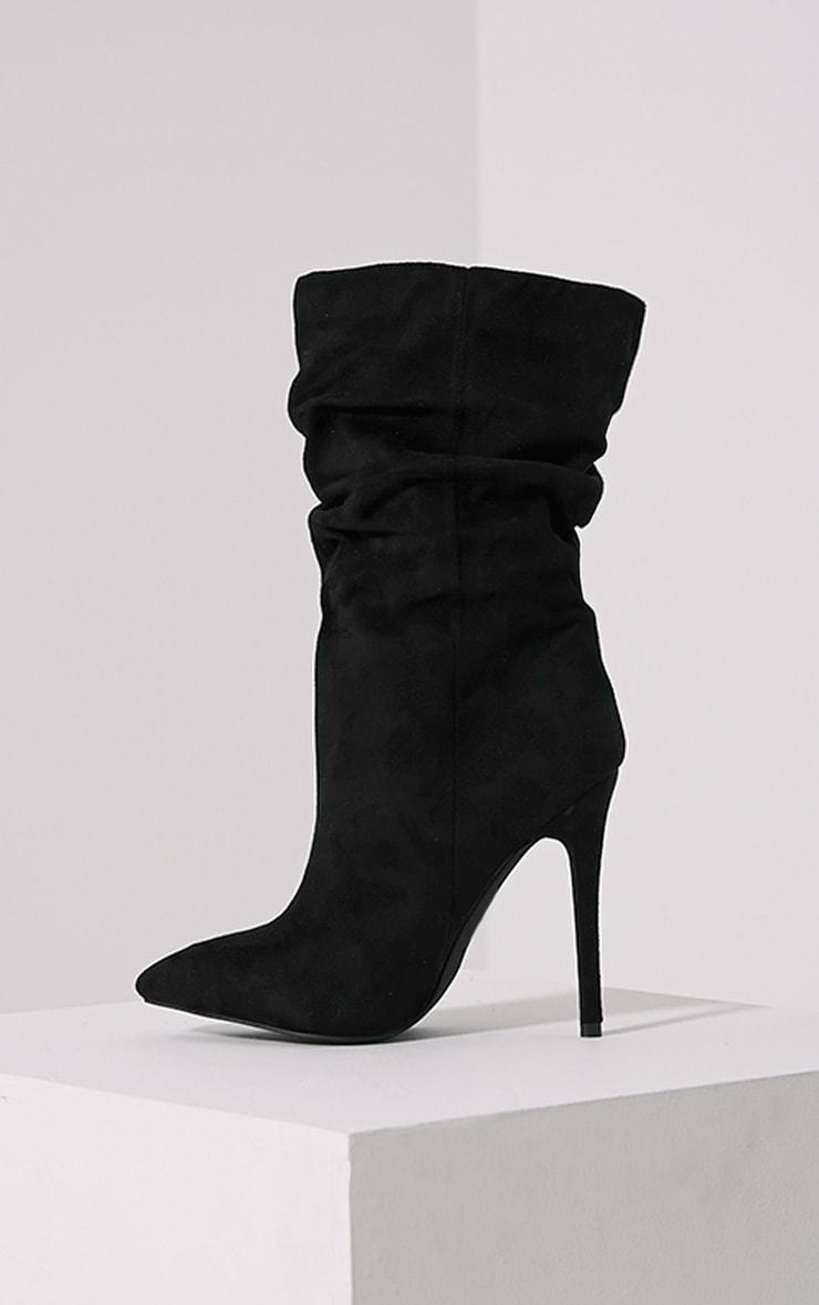 Loordes Black Heeled Calf Boots 4