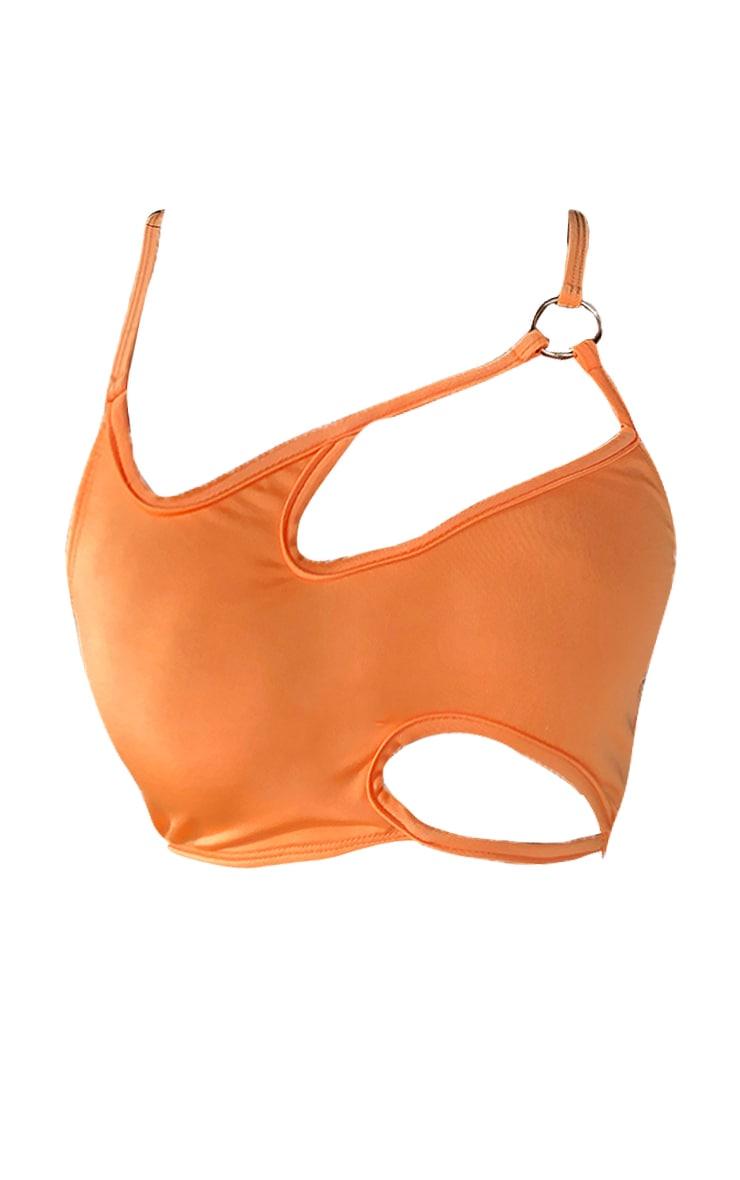 Orange Cut Out Ring Bikini Top 6