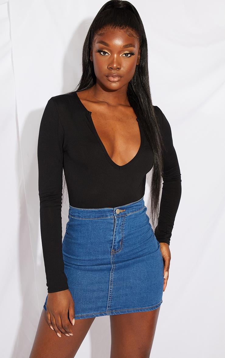 Tall Mid Blue Wash Disco Fit Denim Skirt 4
