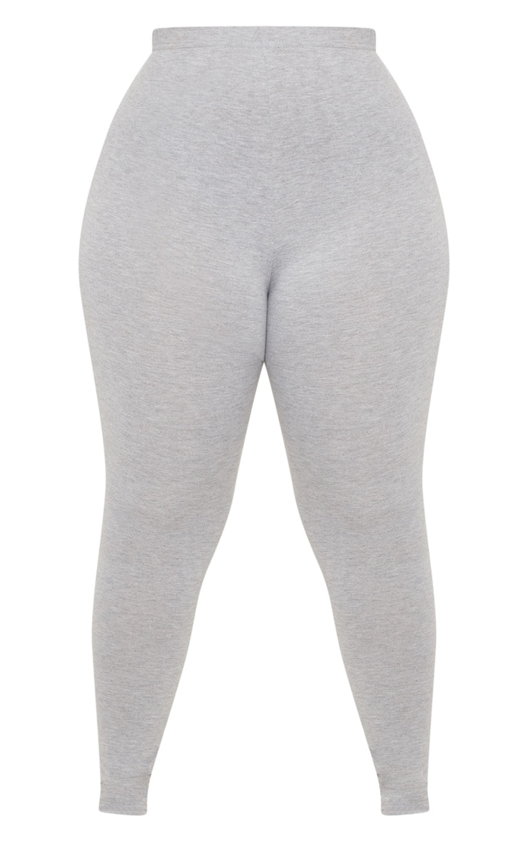 Plus Grey Marl Basic Leggings  3