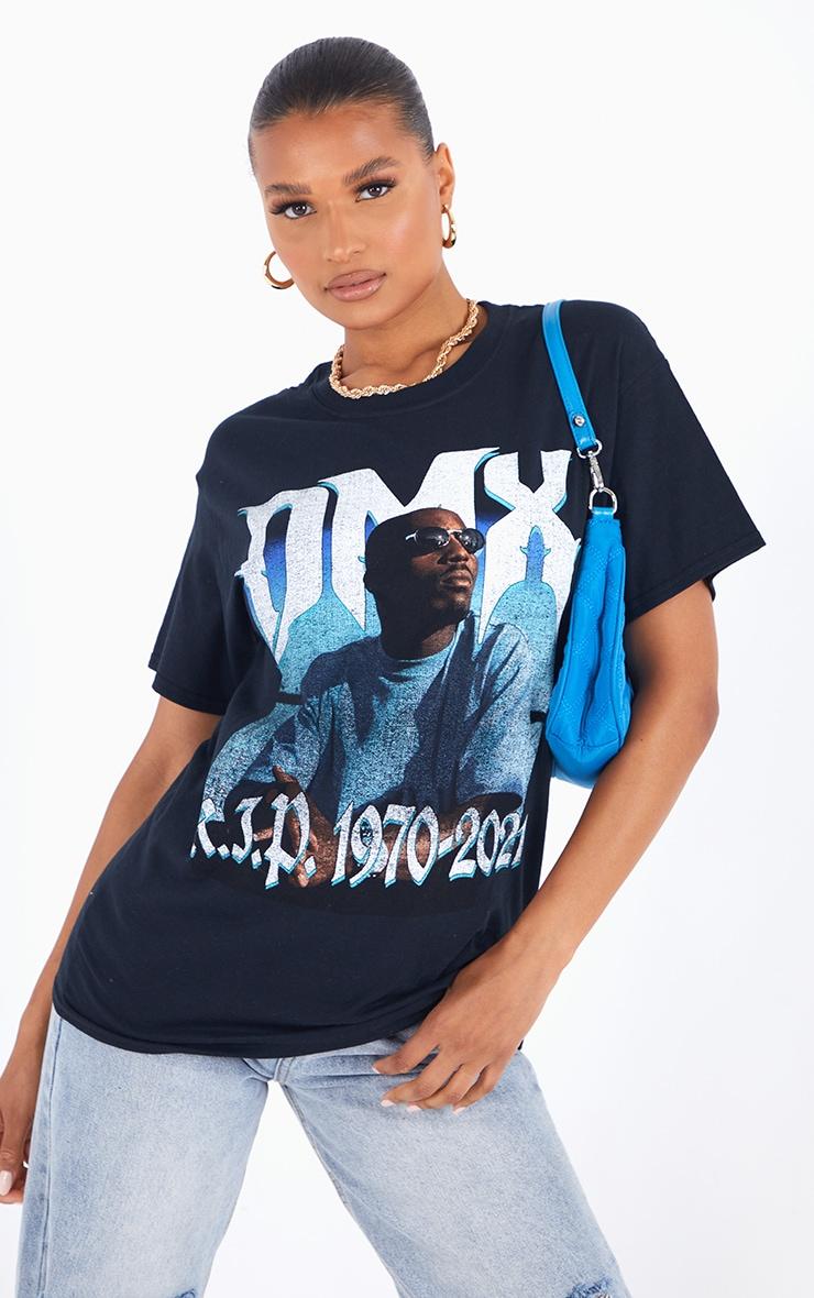 Black Printed DMX 1970-2021 T Shirt 1