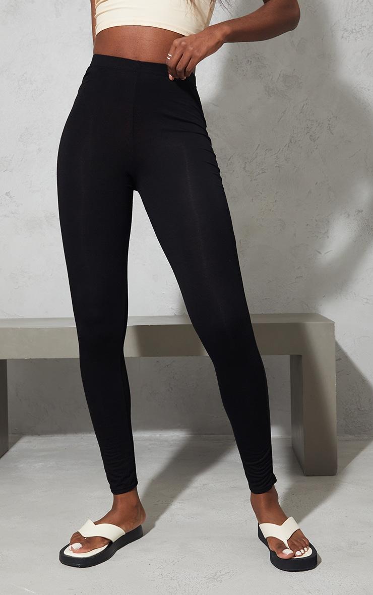 Tall Black Basic Jersey Leggings 2