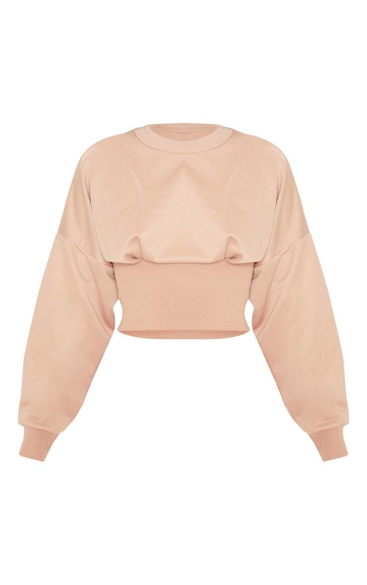 Nude Rib Extreme Hem Crop Sweater 3