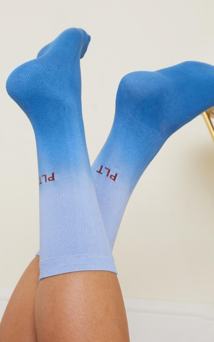 PRETTYLITTLETHING Blue Ombre Socks 1