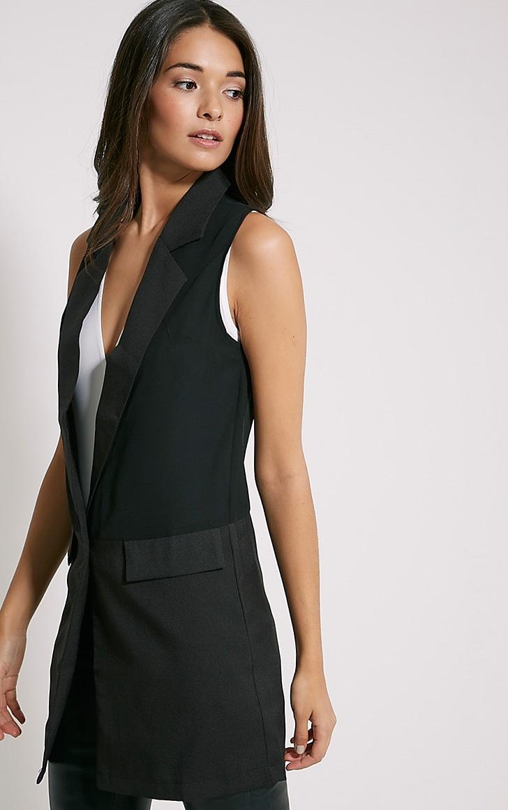 Vienna Black Sleeveless Blazer 5