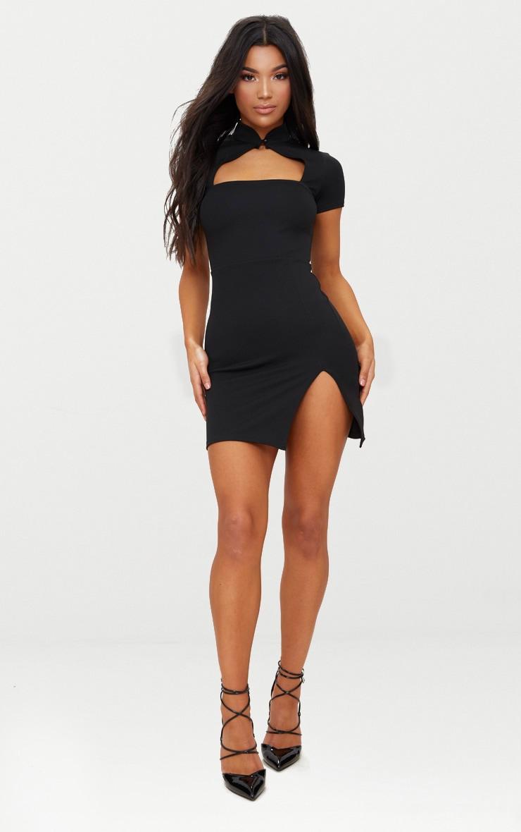 Black Oriental Bodycon Dress 4