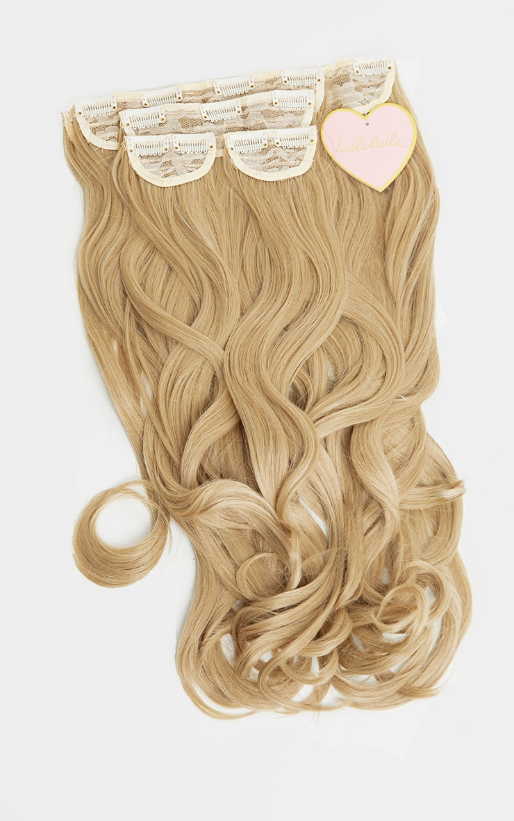 LullaBellz 22 5 Piece Blow Dry Clip In Hair Extensions Light Blonde 5