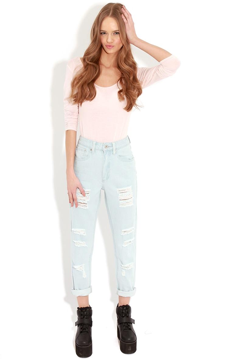 Rhianne Blue  Ripped Boyfriend Jeans  1